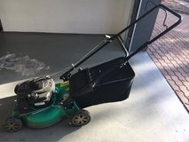 Gas powered lawn mower in Ramstein, Germany