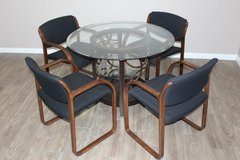 Glass Top dining table with 4 chairs in perfect condition! in Spring, Texas