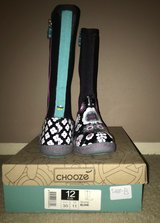 New Chooze rain boots, size 12 youth in Rolla, Missouri