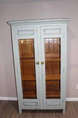 Vintage Turquoise / Blue / cupboard / china cabinet  FREE DELIVERY in Kingwood, Texas