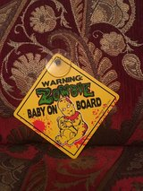 Zombie Baby on Board Suction Cup Sign For Vehicle in Houston, Texas