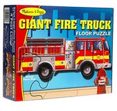 Melissa & Doug Fire Truck Jumbo Jigsaw Floor Puzzle (24 pcs, 4 feet long) Like Brand New Condiiton in Sugar Grove, Illinois