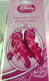 Disney Princess Adjustable 2-in-1 Trainer Skates Size Range J6-J9 Adjust to 4 Sizes Ages 3 to 6 ... in Plainfield, Illinois