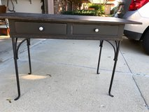 Black metal and wood desk in Schaumburg, Illinois
