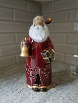 Tall Santa votive candle holder in St. Charles, Illinois
