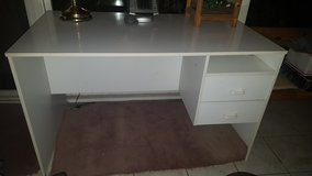 White desk in Vacaville, California