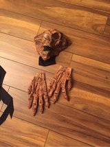 Halloween mask with matching gloves for big kids/adults in Chicago, Illinois
