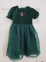 Disney Store Glrl's Size 6/6x Beautiful Minnie Mouse Christmas Dress in Yorkville, Illinois