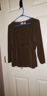 Cato brown blouse long sleeve  size L in Pleasant View, Tennessee