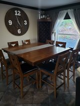 Tall Dining table with 8 chairs in Fort Lewis, Washington