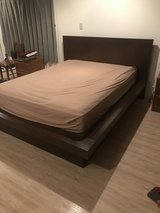 Queen size platform bed with light in Okinawa, Japan