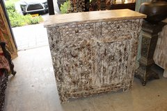 1920's Vintage White Chest Sideboard Side Table in Birmingham, Alabama