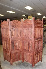 Indian Antique Handcrafted 4 Panel Room Divider in 29 Palms, California