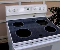 Range Stove Electric- Glass Top By Frigidaire-White in Warner Robins, Georgia