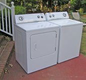 Washer Dryer Set by Whirlpool-Very reliable-Rebuilt in Warner Robins, Georgia