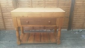 Solid pine butchers block/ kitchen island in Lakenheath, UK