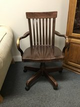 Wooden Desk Chair in Oswego, Illinois