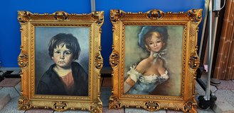 young boy and girl picture in nice frame in Ramstein, Germany