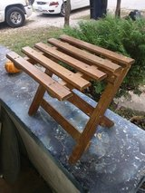 WOODEN FOLDING STOOL/ PLANT STAND MADE IN ROMANIA in Fort Leonard Wood, Missouri