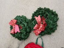 (2) Christmas Wreaths in Fort Campbell, Kentucky