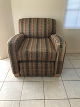 Southwestern Chair with Tuck Under Ottoman in Alamogordo, New Mexico
