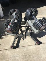 Bowflex Adjustable Weights and Stand in Fairfield, California