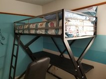Twin Loft Bed w/mattress in Fort Bliss, Texas
