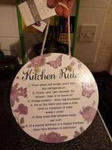 kitchen rule plaque, some minor marks in Lakenheath, UK