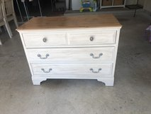 Antique white dresser and nightstand in Spring, Texas