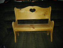 Solid Wood HEART Bench in Travis AFB, California