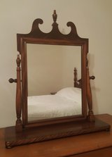 Antique mahogany tilt shaving vanity mirror in Camp Lejeune, North Carolina