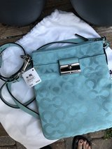 COACH 43642 Kristin Signature Graphic Turquoise Swingpack Crossbody in Cleveland, Texas