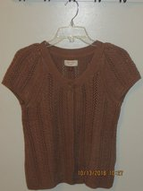 Sonoma Petite Milk Chocolate Brown Short Sleeve Button Cardigan Sweater PM in Lockport, Illinois