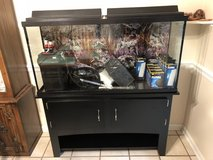55 Gallon Aquarium with stand and external filter in Chicago, Illinois