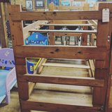 wooden bunk bed in Camp Lejeune, North Carolina