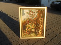beautiful needle point picture in a lovely frame in Ramstein, Germany