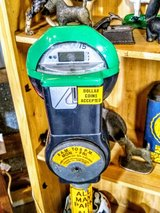 Man cave parking meter with base in Camp Lejeune, North Carolina