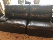 Leather couch and loveseat in St. Charles, Illinois