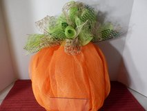 Pumpkin Mesh Wreath in Joliet, Illinois