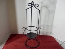 Black metal candle holder in Naperville, Illinois
