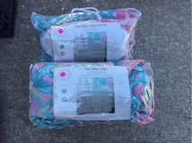 pixie baby in aqua crib bumper pad and three piece bedding set in Kingwood, Texas