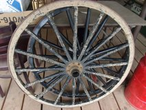 Antique Wagon Wheels in Alamogordo, New Mexico