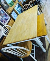 table with 3 chairs and bench in Camp Lejeune, North Carolina