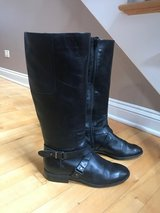 NINE WEST WOMEN'S NW BLACK BLOGGER BOOTS Sz (8M) in Bolingbrook, Illinois