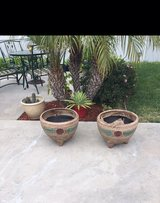 New clay pots in Travis AFB, California