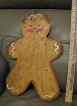 Painted Wood Gingerbread Man in Tomball, Texas
