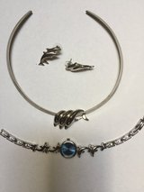 Dolphins Watch w/Necklace Charm & Pierced Earrings in Eglin AFB, Florida
