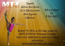Selling raffle tickets to a free pass to MTZ studeo in Baytown, Texas