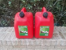 Two 5 gallon gas cans in Camp Lejeune, North Carolina