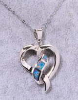 New - Heart Blue Fire Opal Necklace in Alamogordo, New Mexico